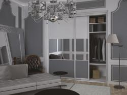 traditional bedroom closet sliding doors